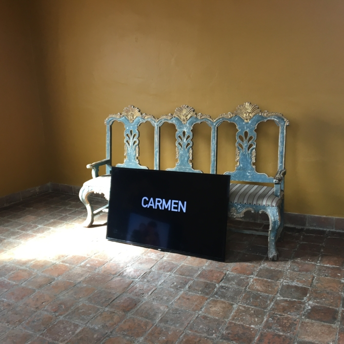Install view CARMEN at National Museum of Art - Museo Nacional de Arte, La Paz,Bolivia
