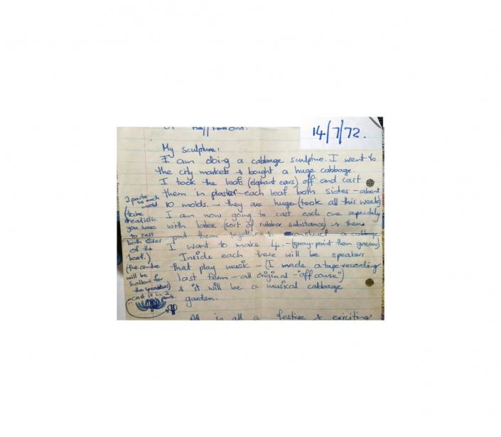 Cabbage Enterprises letter 14 July 1972